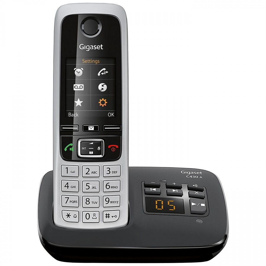 gigaset c430a single cordless phone with answering machine. Black Bedroom Furniture Sets. Home Design Ideas