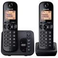 Panasonic KX-TGC222EB Twin Cordless Phone with Answering Machine - Refurb