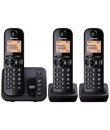 Panasonic KX-TGC223EB Trio Cordless Phone with Answering Machine - Clearance